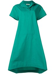 Odeeh Short Sleeve Flared Dress Green