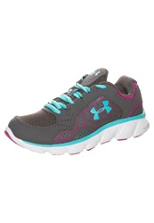 Under Armour Micro G Assert Iv Lightweight Running Shoes Charcoal White Breathtaking Grey