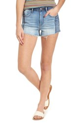 Vigoss Colorblock Denim Shorts Med Wash