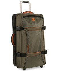 Timberland Twin Mountain 26 Wheeled Duffel Bag Burnt Olive Burnt Orange