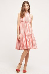Eva Franco Daylily Stripe Dress Red
