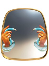 Seletti Hands With Snakes Mirror Multicolor