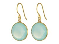 Dee Berkley Single Stone Earrings Aqua Earring Blue