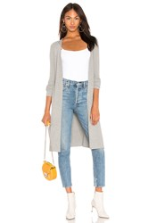525 America Ribbed Open Cardigan Gray