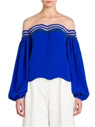 Fendi Silk Tulle Illusion Blouse