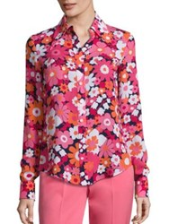 Michael Kors Floral Button Front Shirt Azalea Multi