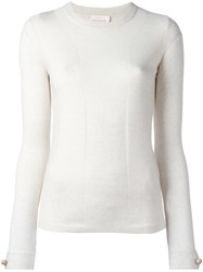 See By Chloe Button Cuff Jumper White