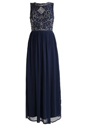 Lace And Beads Paula Occasion Wear Navy Dark Blue