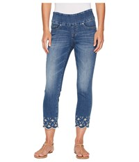 Jag Jeans Lewis Straight Pull On Ankle W Embroidery In Skydive Skydive Women's Blue