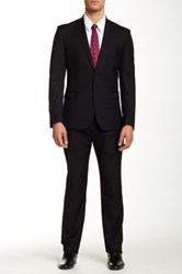 Ben Sherman Camden Two Button Notch Lapel Wool Suit Black