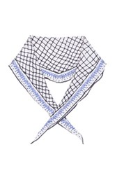 Haider Ackermann Twill Diamond Scarf In White Abstract