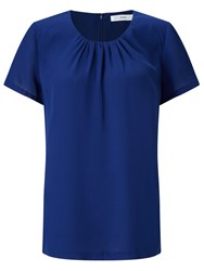 John Lewis Pleat Neckline Top Cobalt