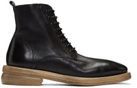 Marsell Black Dodone Lace Up Boots