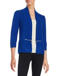 Ivanka Trump Open Knit Cardigan Sea Blue