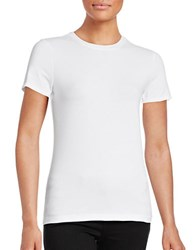 Lord And Taylor Petite Solid Short Sleeve T Shirt White