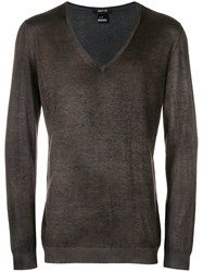 Avant Toi V Neck Jumper Grey