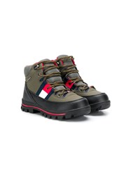 Tommy Hilfiger Junior Hiking Style Logo Boots 60