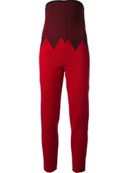 Jean Paul Gaultier Vault High Waisted Trousers Red