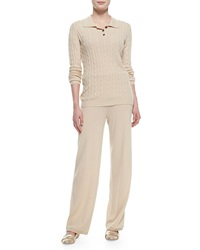Neiman Marcus Two Piece Cashmere Pullover And Pants Set Large 10