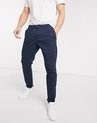 Only And Sons Slim Fit Chinos In Navy