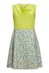 Almost Famous Painted Floral Skirt Dress Yellow