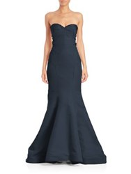 Zac Posen Strapless Sweetheart Silk Gown