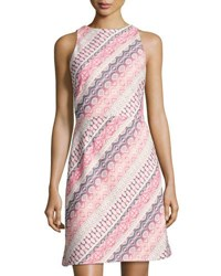 Tahari By Arthur S. Levine Striped Jacquard Sheath Dress Multi