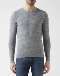Knowledge Cotton Apparel Anthracite Crew Neck Sweater Grey
