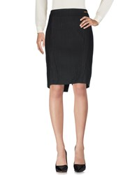 Exte Knee Length Skirts Black