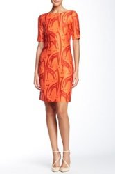 Orla Kiely Boat Neck Dress Red