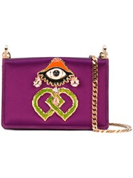 Dsquared2 Dd Clutch Bag Women Cotton Leather One Size Pink Purple