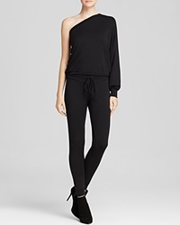 Riller And Fount Jumpsuit Bruno One Shoulder Black French Terry