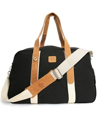 Faguo Black 48 Hr Canvas Suede Bag