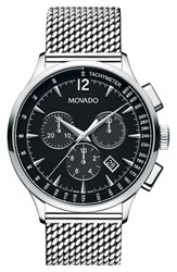 Movado Men's 'Circa' Chronograph Mesh Strap Watch 42Mm