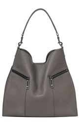 Botkier Trigger Pebbled Leather Hobo Grey Winter Grey