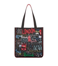 Harrods Doodle London Canvas Tote Bag Unisex