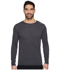Brooks Ghost Long Sleeve Heather Black Workout