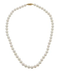Belpearl 14K Beaded Akoya Pearl Necklace 18 L