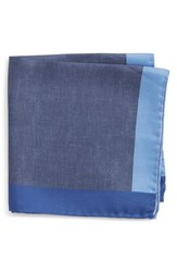 Boss Exclusive Silk Pocket Square Blue
