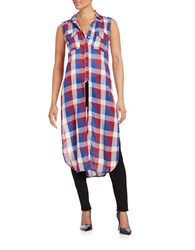 Blank Nyc Cotton Plaid Duster How About