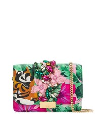 Gedebe Cliky Tiger Flower Bag Green