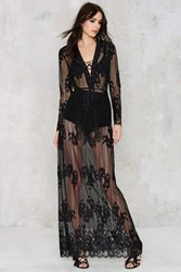 Nasty Gal Lace Up Close Sheer Robe