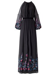 Ariella Sheba Embroiderey Dress Black