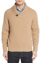 Luciano Barbera Men's Shawl Collar Wool And Cashmere Sweater