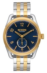 Nixon Men's C39 Bracelet Watch 39Mm Silver Blue Gold
