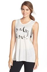 Spiritual Gangster 'Only Love' Graphic Muscle Tee Stardust