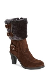Women's Johnston And Murphy 'Jeanie' Shearling Cuff Bootie Expresso Suede