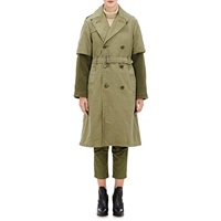 Nlst Layered Trench Coat Olive