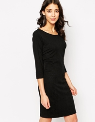 B.Young 3 4 Sleeve Body Conscious Jersey Dress Black