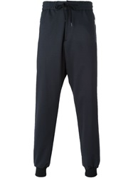 Ps Paul Smith Gathered Ankle Track Pants Blue